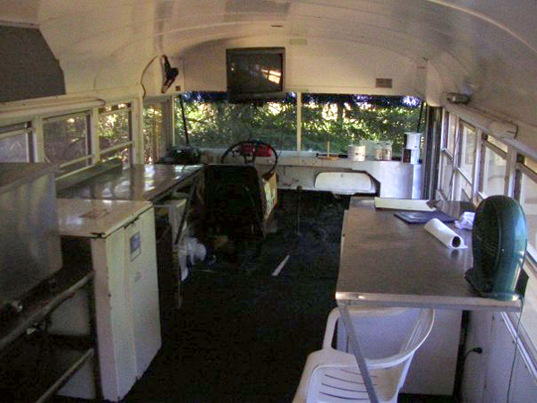 Inside of the Bus